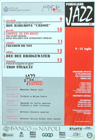 manifesto pomigliano jazz festival 1997