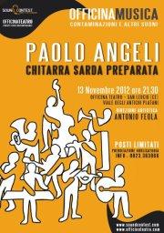 """Paolo Angeli in concerto con """"chitarra sarda preparata"""" a San Leucio (Caserta)."""