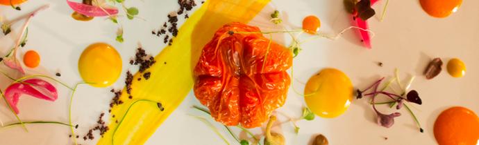 Piatto a base di Papaccella dello chef Ivan Paradiso (ph Gianfranco Adduci)